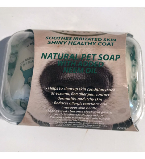 Natural Pet Soap with Added Neem Oil